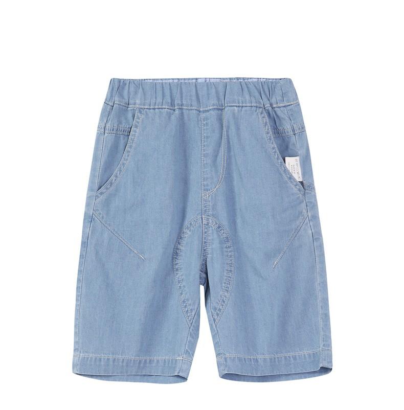 2020夏装新款分割线设计儿童牛仔裤中裤