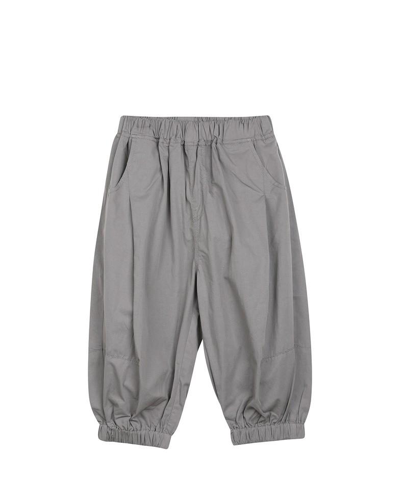 2020夏装新款分割线设计脚口抽褶灯笼裤