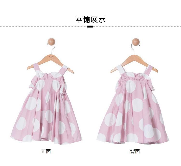 马拉丁童装女小童公主裙夏装新款圆点图案娃